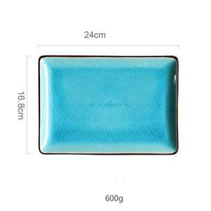 Her Shop Tableware rect plate L Ice Glaze Ceramic Tableware