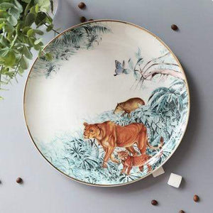 Her Shop Tableware E-10 inch plate Rain Forest Ceramic Tableware