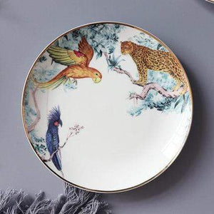 Her Shop Tableware A-8 inch plate Rain Forest Ceramic Tableware