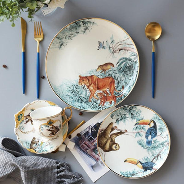 Her Shop Tableware Rain Forest Ceramic Tableware