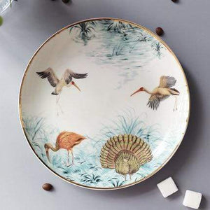Her Shop Tableware B-8 inch plate Rain Forest Ceramic Tableware