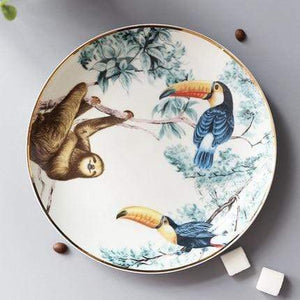 Her Shop Tableware C-8 inch plate Rain Forest Ceramic Tableware