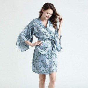Her Shop top Blue / M Sexy Silk Satin Robe