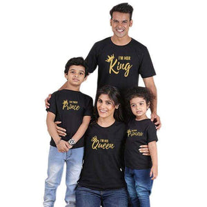Her Shop Tops Color 3 / King L Family Matching Fun Crown T Shirt