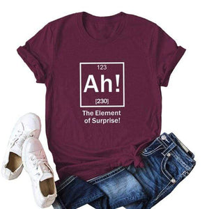 Her Shop Tops Burgundy 2 / XXL Women Funny  Cartoon Print T-shirt
