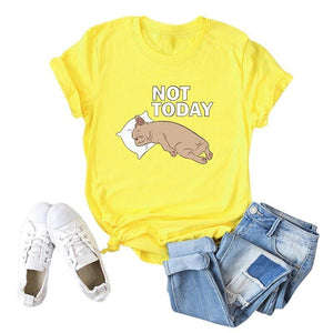 Her Shop Tops Women Funny  Cartoon Print T-shirt