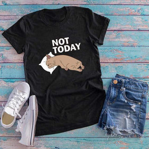 Her Shop Tops Black / XXL Women Funny  Cartoon Print T-shirt