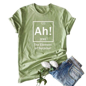 Her Shop Tops Army Green 2 / XXL Women Funny  Cartoon Print T-shirt