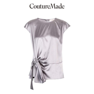 Her Shop Vero Moda CoutureMade Women's OL Mulberry Silk Chiffon Shirt | 319241506