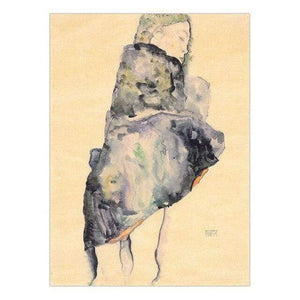 Her Shop 30x40cm NO Frame / K05537 Vinsonloud Home Decoration Print Canvas Wall Art Picture Poster Paintings Oil Unframed Drawings Austrian Egon Schiele