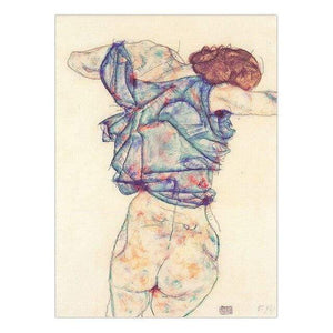 Her Shop 30x40cm NO Frame / K05527 Vinsonloud Home Decoration Print Canvas Wall Art Picture Poster Paintings Oil Unframed Drawings Austrian Egon Schiele
