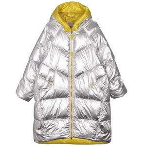 Her Shop Silver / L Winter Korean Hooded Warm Down Cotton Jacket