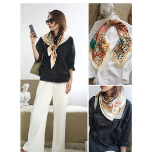 Her Shop Women Fashion Scarves 100% Silk Scarf