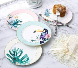 Her Shop YeFine High Quality Bone Porcelain 8 Inch Japanese Ceramic Salad  Plates Tableware Accessories Cake Dishes