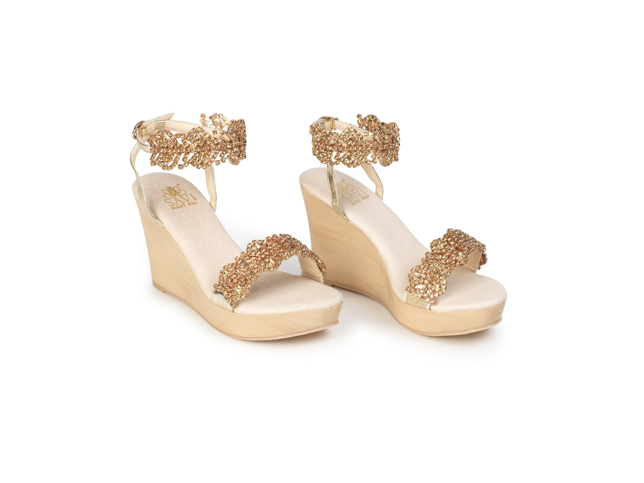 Candace Gold Wedge - Sandals  Wedges  Espadrilles