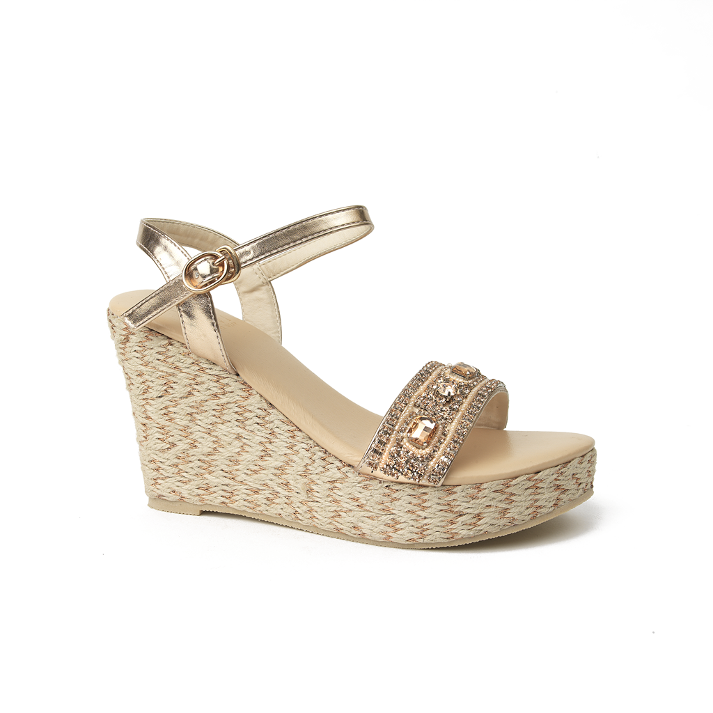 Arrienne Jute Wedge High Champagne - Sandals  Wedges  Espadrilles - 2