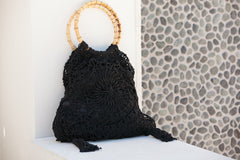 Marbella Hand Crochet Tassle Bag Black $ 99 - Sandals  Wedges  Espadrilles - 2
