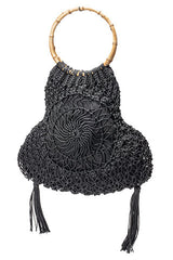 Marbella Hand Crochet Tassle Bag Black $ 99 - Sandals  Wedges  Espadrilles - 1