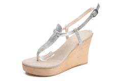 Gladiator Clear Wedge - Sandals  Wedges  Espadrilles - 2