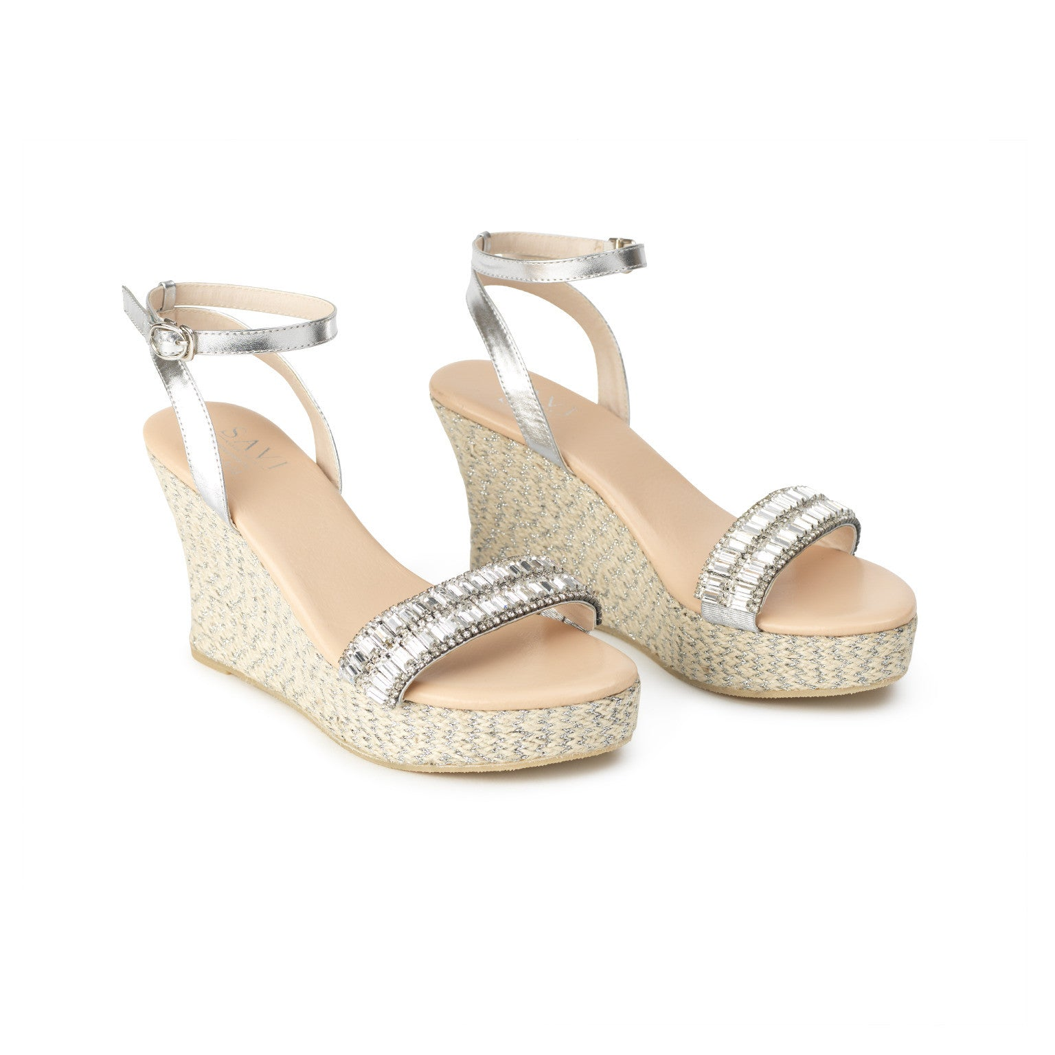 Helena High Jute Wedge Clear