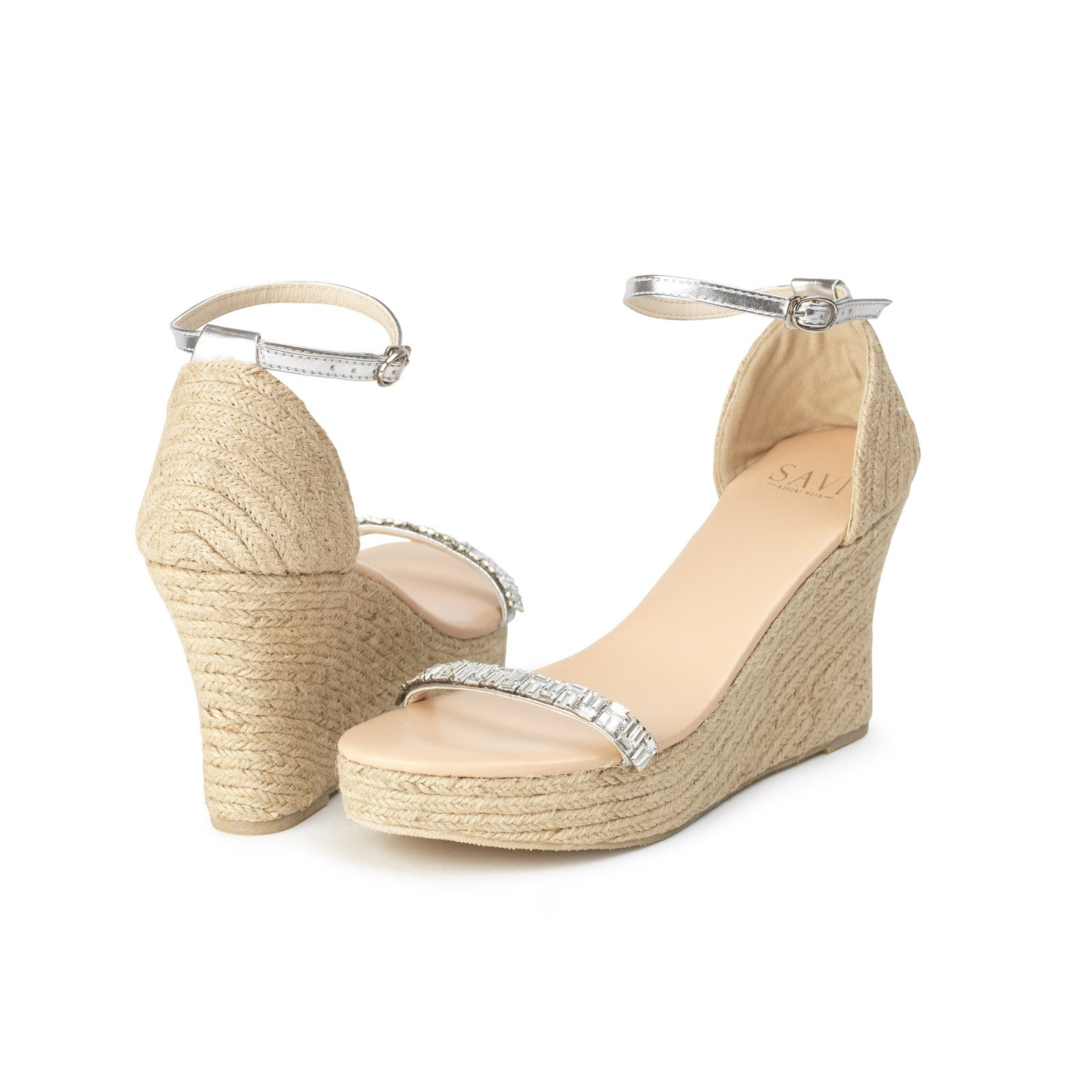 Courtney Clear Wedge Jute High