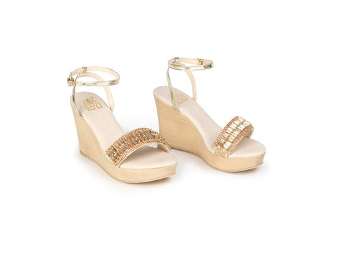 Savi Gold Helena Wedge