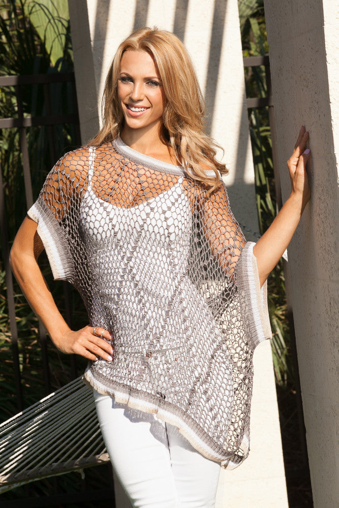 Porto Crochet Cover Up Poncho $70 - Sandals  Wedges  Espadrilles - 3