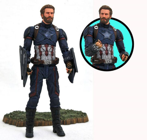 Image of Capitan America Marvel Select Avengers Infinity War Action Figure 18 cm