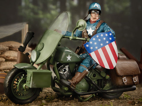 Image of Capitan America con Motocicletta Marvel Legends