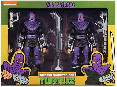 Image of Tmnt Foot Soldier Tartarughe Ninja Neca 18 cm 2 pack