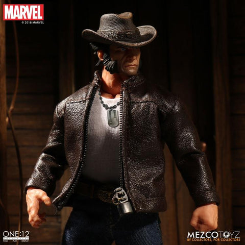 Image of Wolverine Cowboy Logan Mezco Toyz One 12 Action Figure