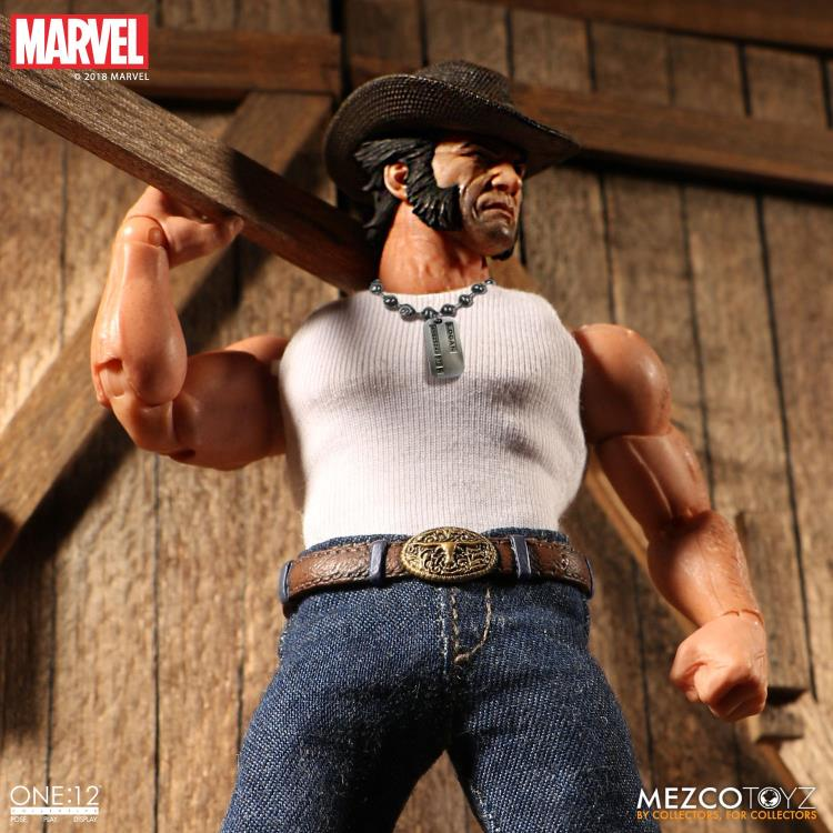 Wolverine Cowboy Logan Mezco Toyz One 12 Action Figure