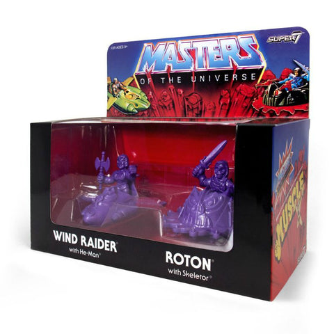 Masters of The Universe Muscle 4-pack He-Man e Skeletor - Colore Viola