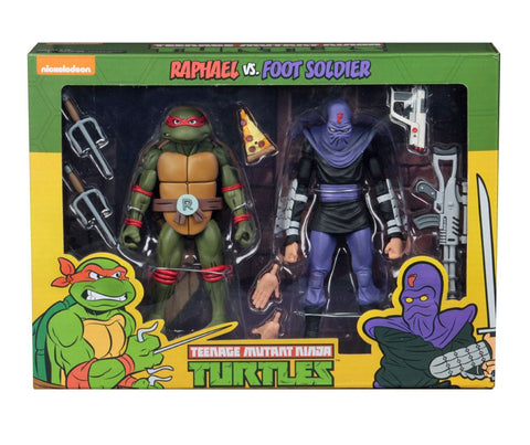 Image of Tmnt Raffaello vs Foot Soldier Tartarughe Ninja Neca 18 cm 2 pack