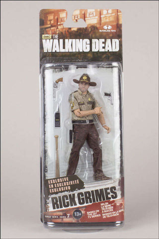 Image of The Walking Dead Rick Grimes Action Figure Mc Farlane Toys
