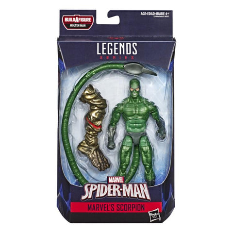 Image of Spiderman Marvel Legends Wave 12 Molten Man baf - Personaggi Singoli