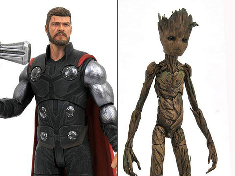 Image of Thor e Groot Marvel Select Avengers Infinity War Action Figure 18 cm