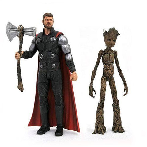 Thor e Groot Marvel Select Avengers Infinity War Action Figure 18 cm