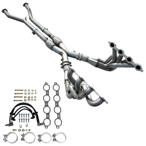 2001-03 C5 Corvette American Racing Full Length Headers w/Severe Duty Cats, Tuning Required (2 Sizes)