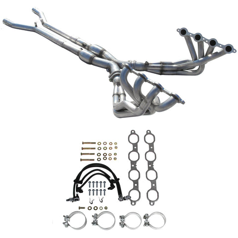 2009-13 C6 Corvette American Racing Full Length Headers w/Severe Duty Cats, Tuning Required (2 Sizes)