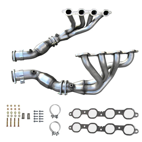 2014-19 C7 Corvette American Racing Mid-Length Headers w/Severe Duty Cats, No Tuning Required