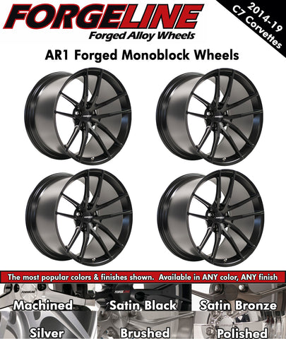 2014-19 Corvette Forgeline AR1 1-Piece Forged Monoblock Wheels
