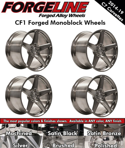 2014-19 Corvette Forgeline CF1 1-Piece Forged Monoblock Wheels
