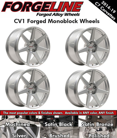2014-19 Corvette Forgeline CV1 1-Piece Forged Monoblock Wheels