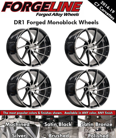2014-19 Corvette Forgeline DR1 1-Piece Forged Monoblock Wheels