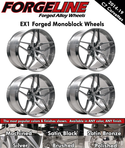 2014-19 Corvette Forgeline EX1 1-Piece Forged Monoblock Wheels