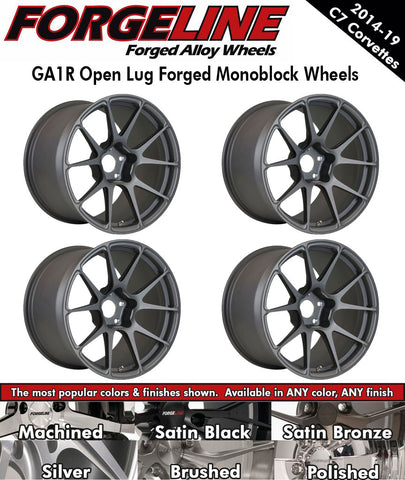 2014-19 Corvette Forgeline GA1R Open Lug 1-Piece Forged Monoblock Wheels