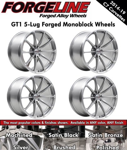 2014-19 Corvette Forgeline GT1 5-Lug 1-Piece Forged Monoblock Wheels