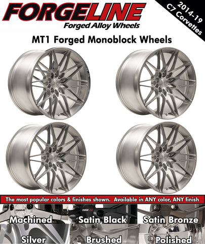 2014-19 Corvette Forgeline MT1 1-Piece Forged Monoblock Wheels