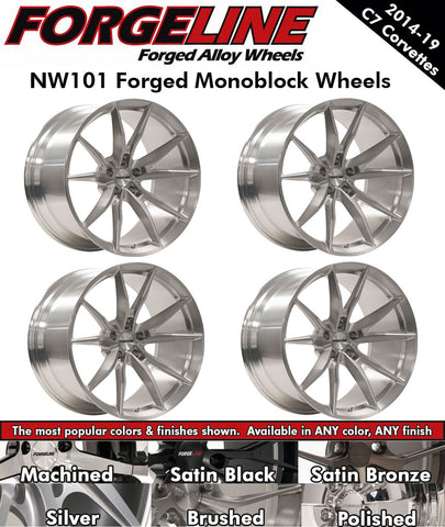 2014-19 Corvette Forgeline NW101 1-Piece Forged Monoblock Wheels